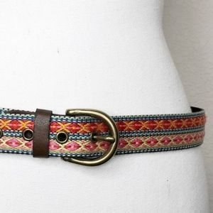 Mossimo Supply Co Woven Aztec Design Belt Size M
